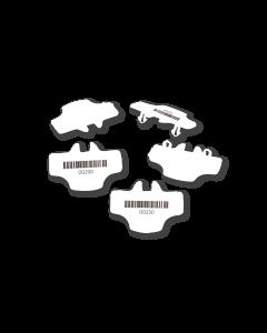 Versapak T2 Siegel mit Barcode-Typ 128 in weiß