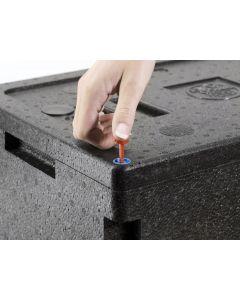 Plombe für EPP-Boxen
