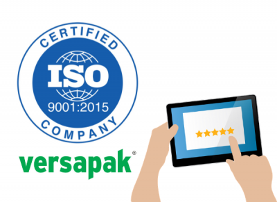 Versapak enjoy successful transition to new standard accreditation: ISO9001:2015